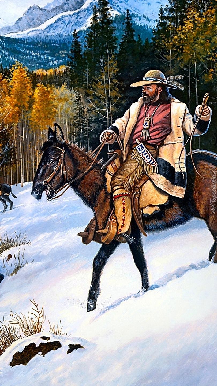 Traper na koniu