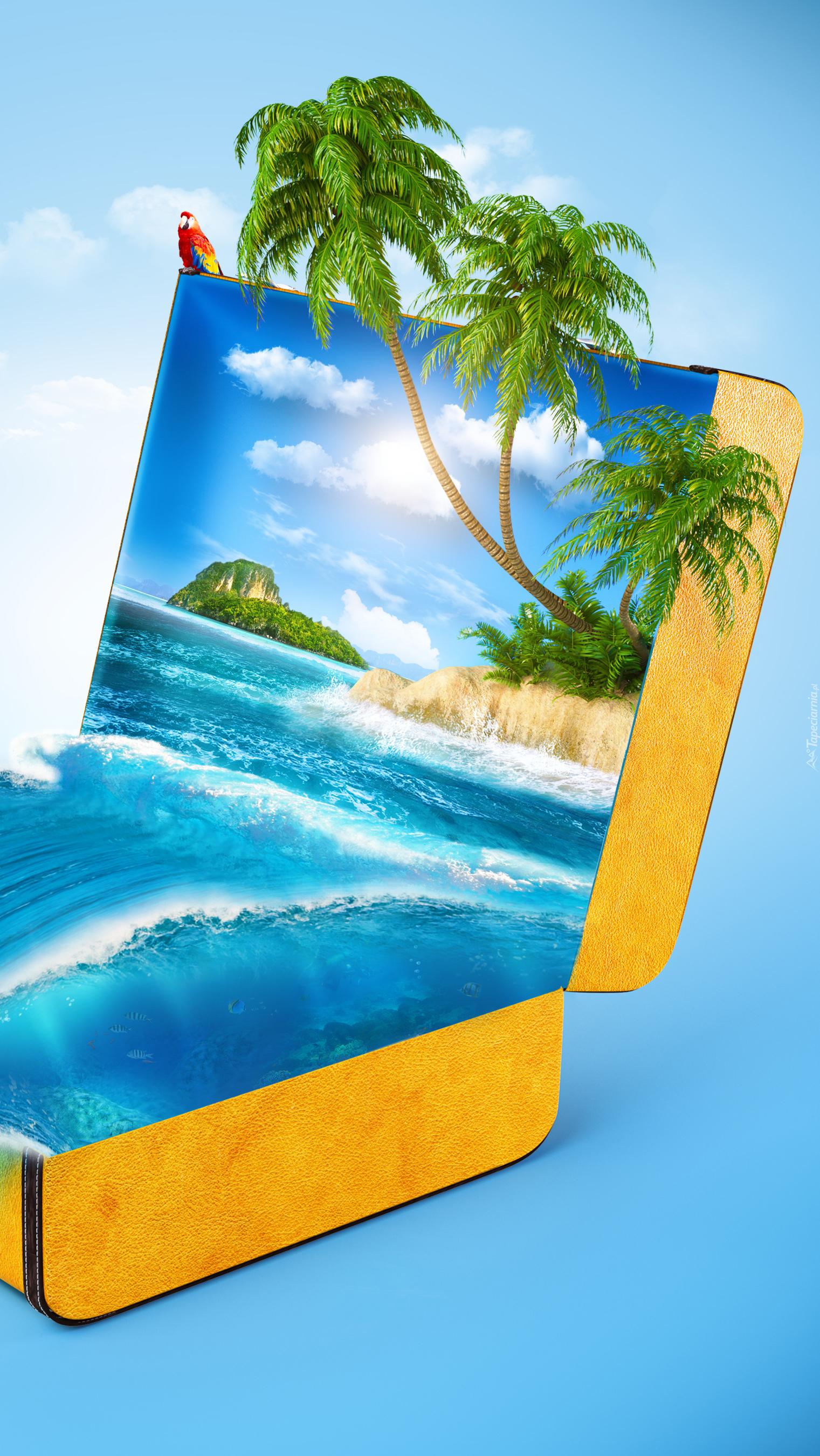 Tropikalna wyspa w walizce