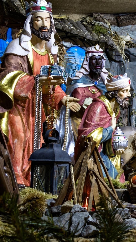 Trzej Królowie w szopce