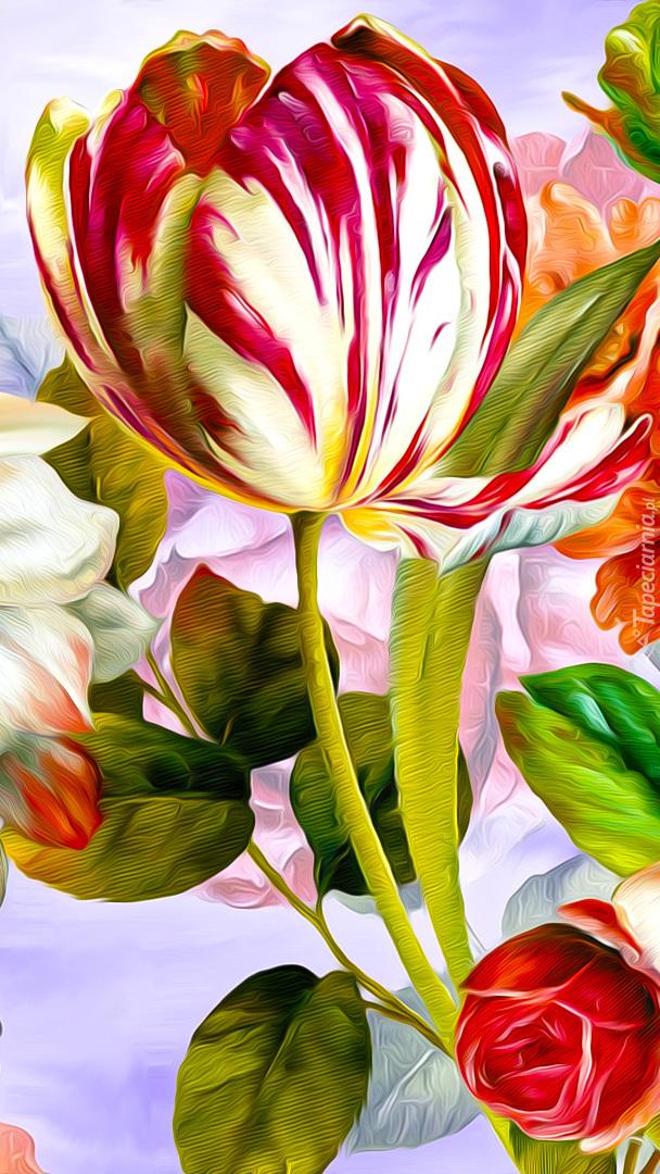 Tulipan w grafice