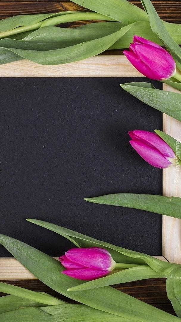 Tulipany na tabliczce