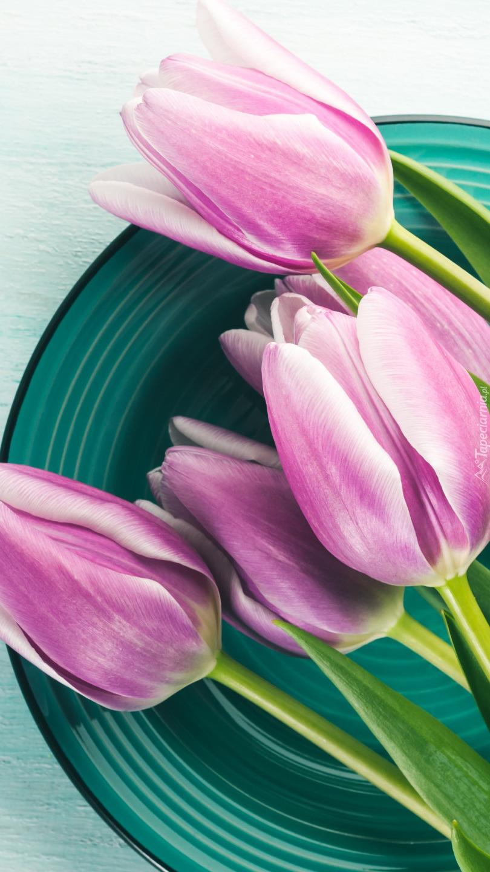 Tulipany na talerzu