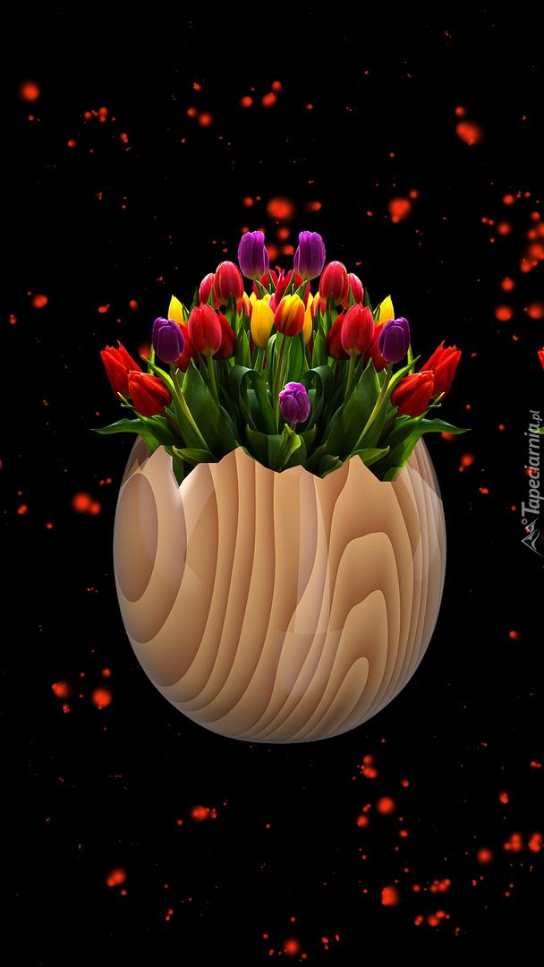Tulipany w skorupce