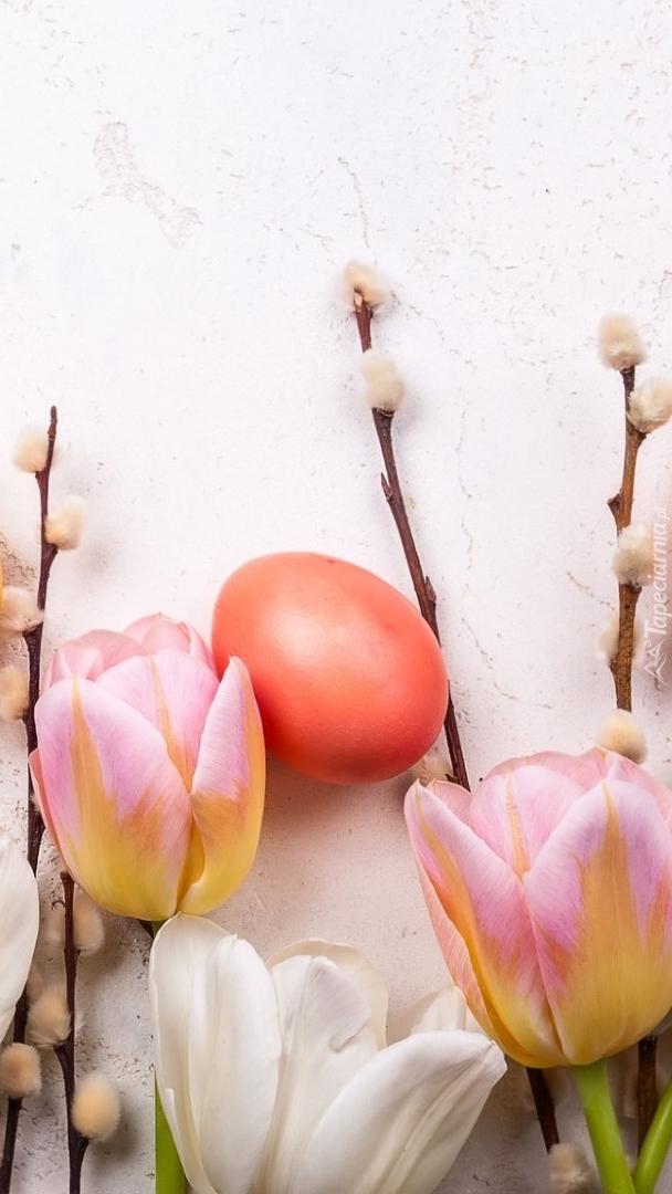 Tulipany z pisanką