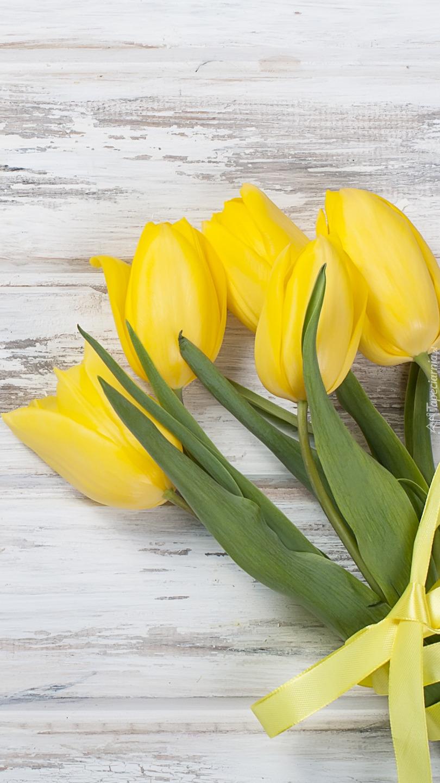 Tulipany ze wstążką