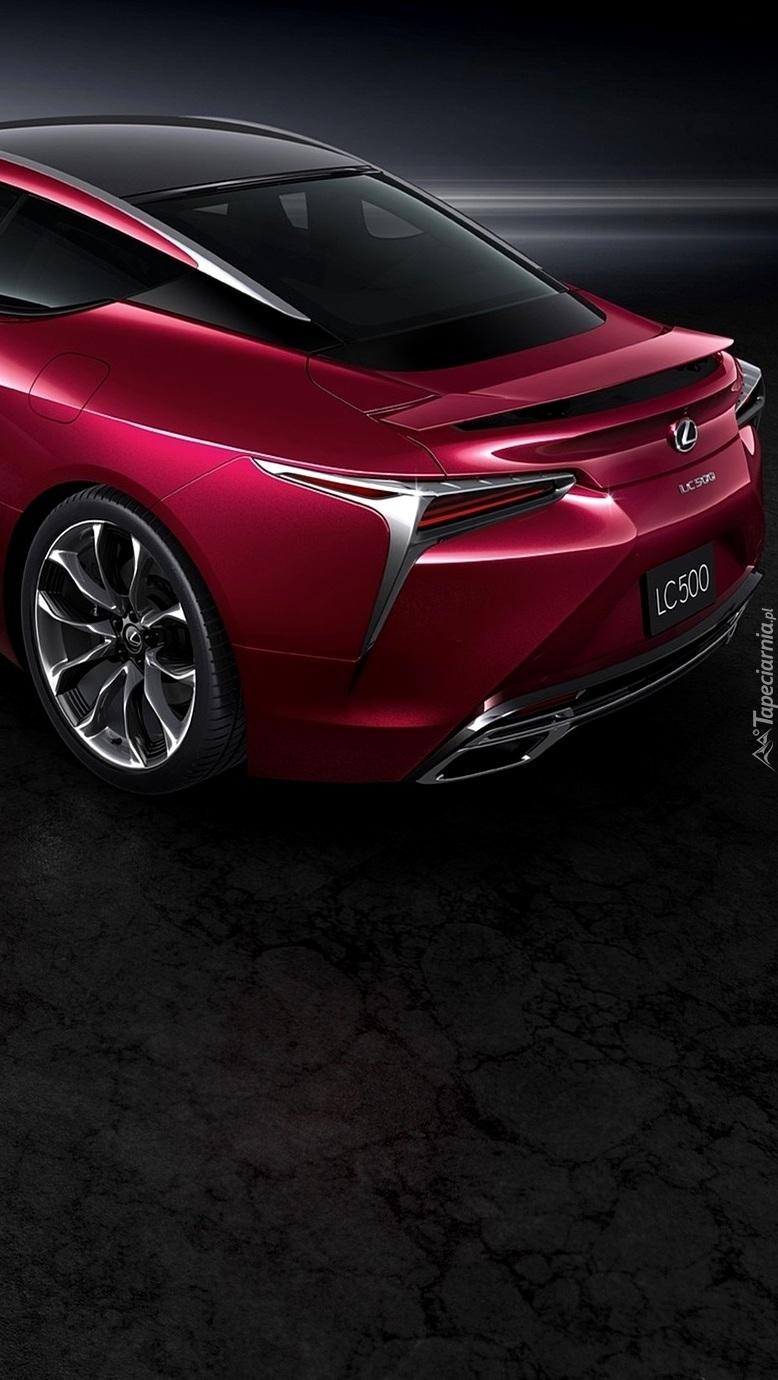 Tył bordowego Lexusa