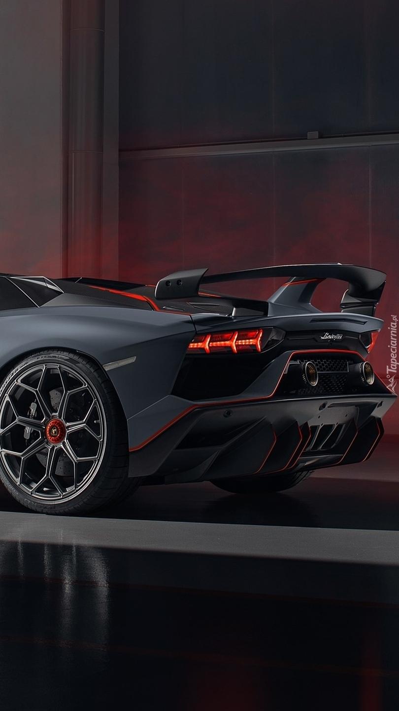 Tył Lamborghini Aventador SVJ 63 Roadster