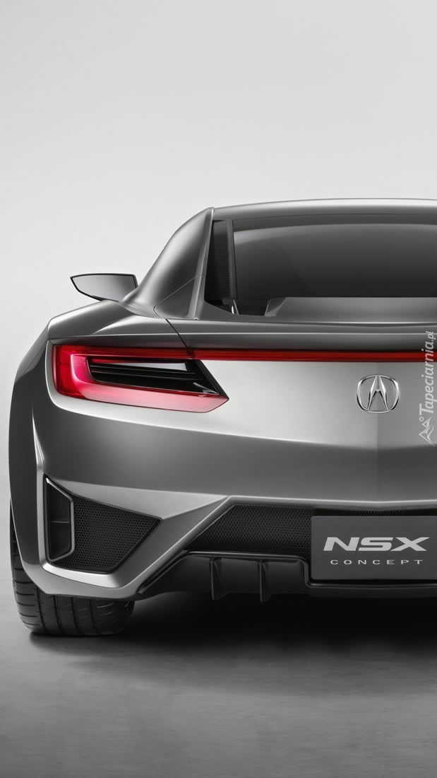 Tył srebrnej Acury NSX