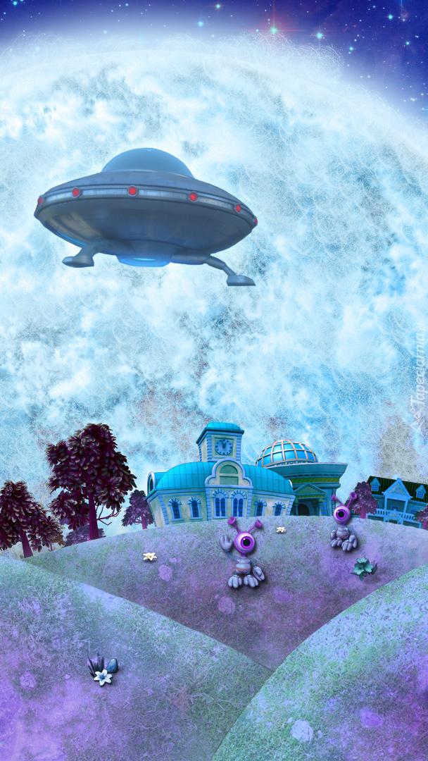 UFO nad domami