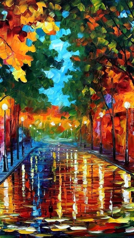 Ulica w deszczu