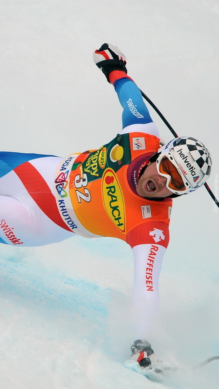 Upadający narciarz