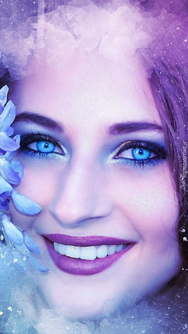 Uśmiech niebieskookiej