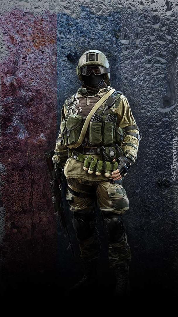 Uzbrojony żołnierz