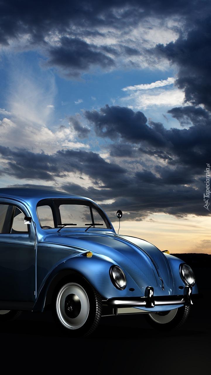 Volkswagen Garbus w kolorze nieba