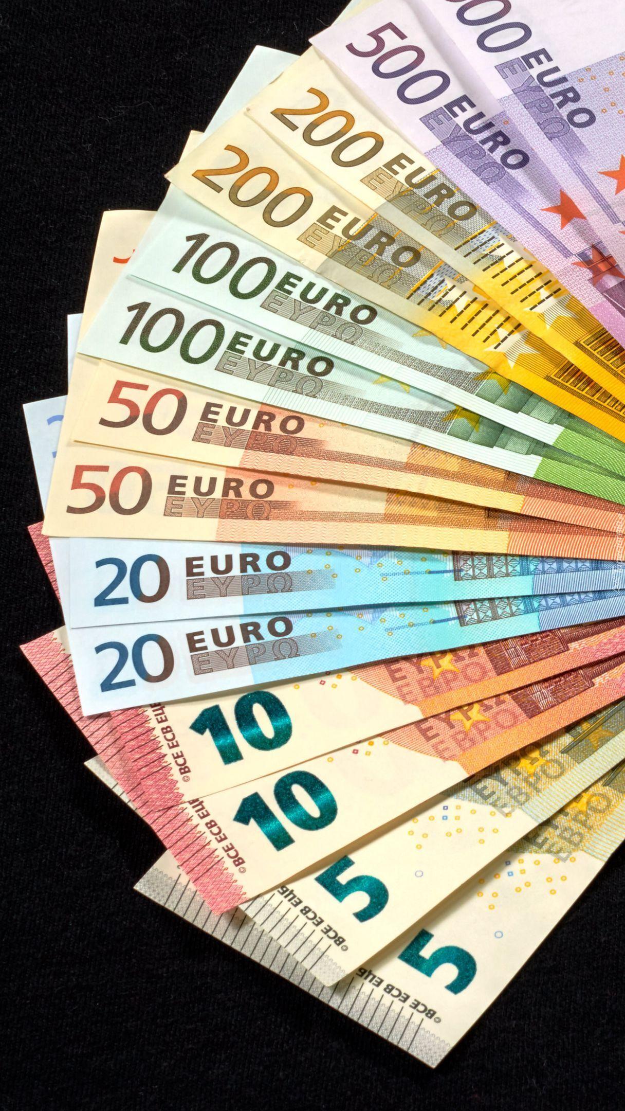 Wachlarz z banknotów euro