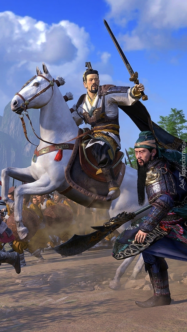 Walczące postacie z gry Total War Three Kingdoms