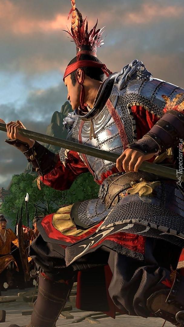 Walczący rycerz z gry Total War Three Kingdoms