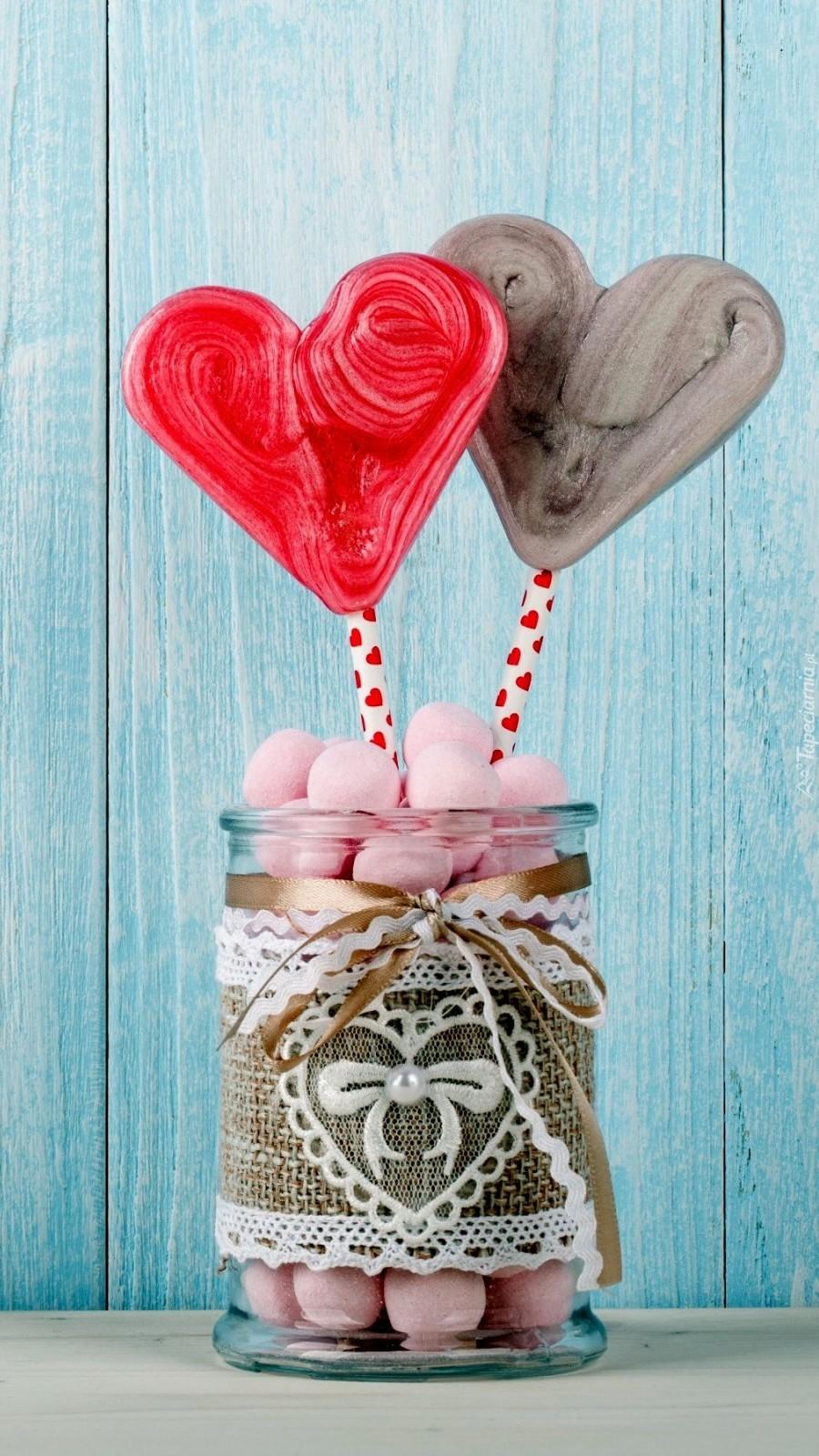 Walentynkowe lizaki