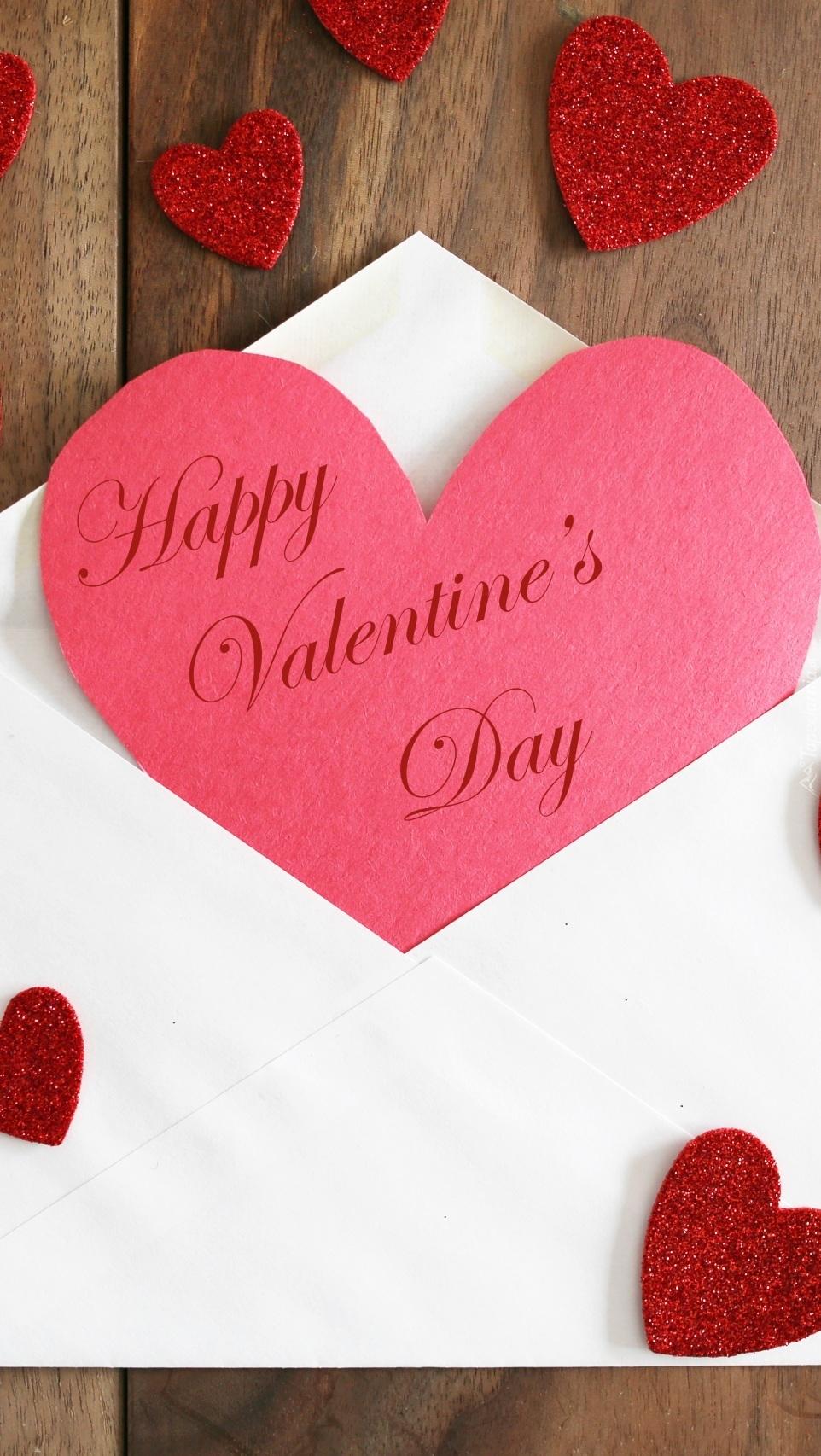 Walentynkowe serce w kopercie