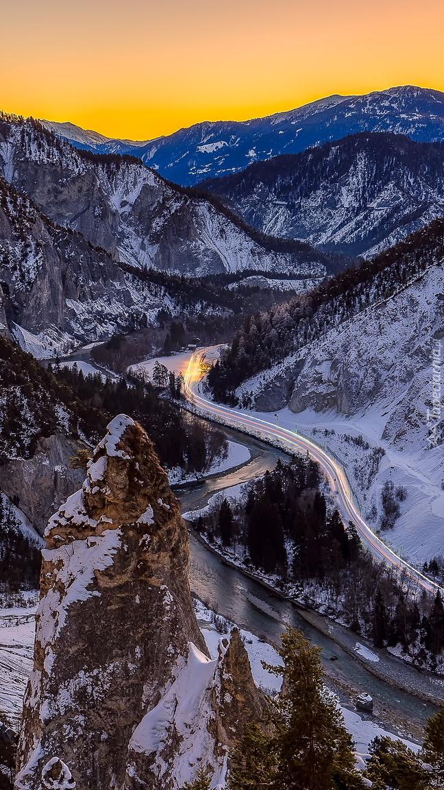 Wąwóz Ruinaulta zimą