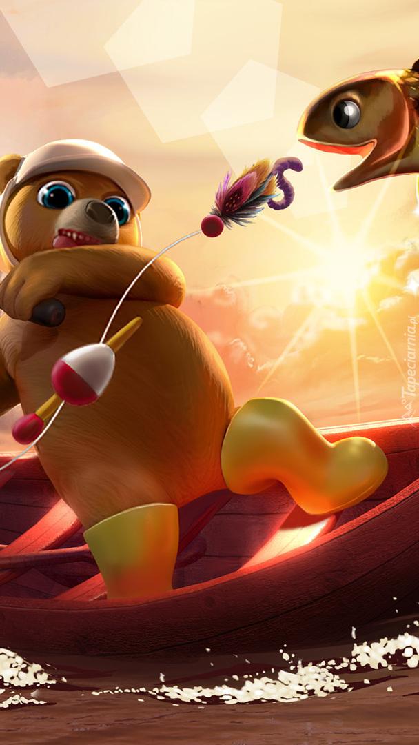 Wędkujący niedźwiedź