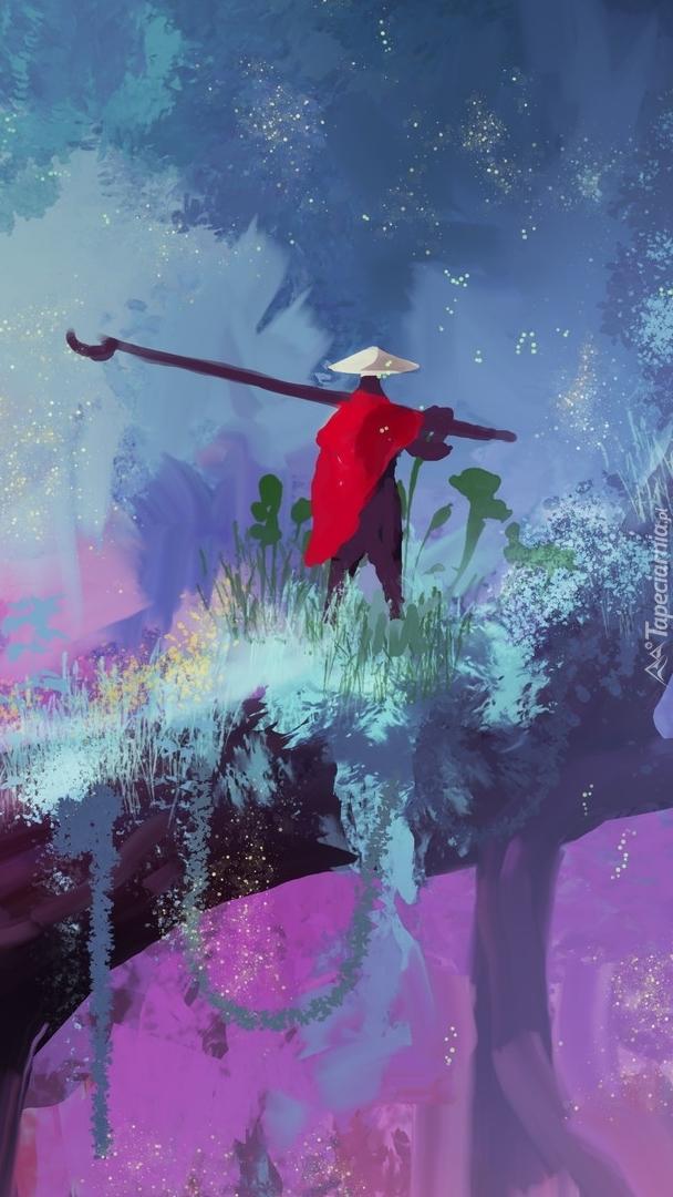 Wędrowiec w czerwonej pelerynie