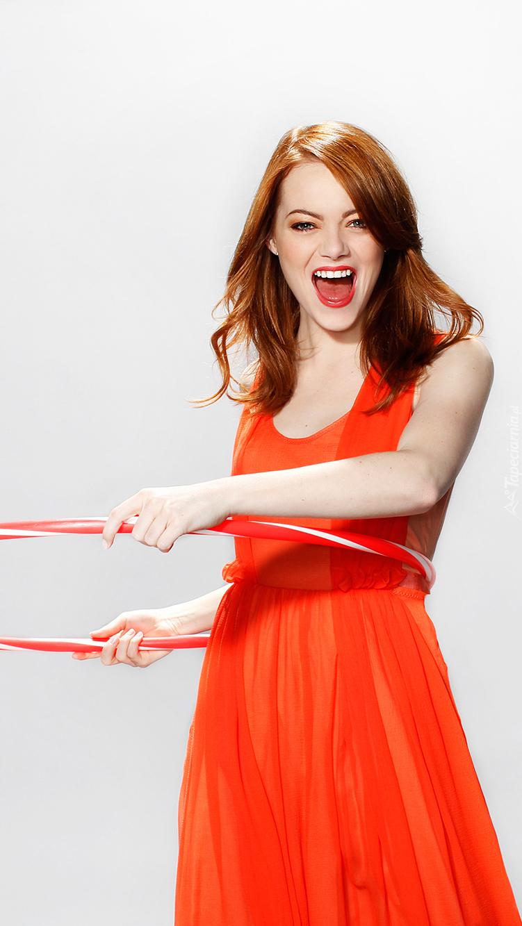 Wesoła Emma Stone