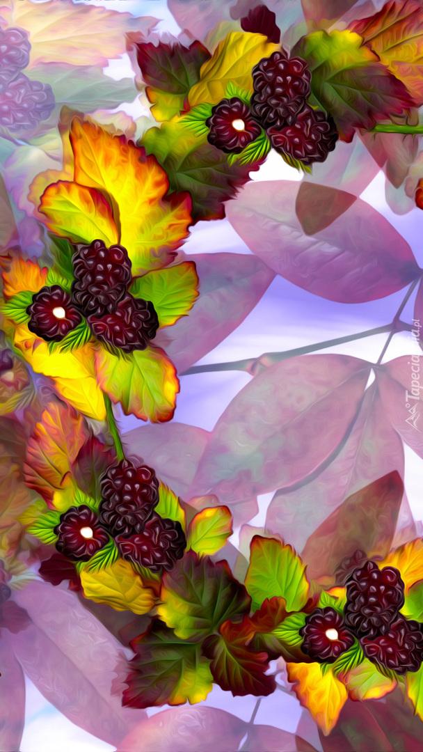 Wianek z liści i jeżyn