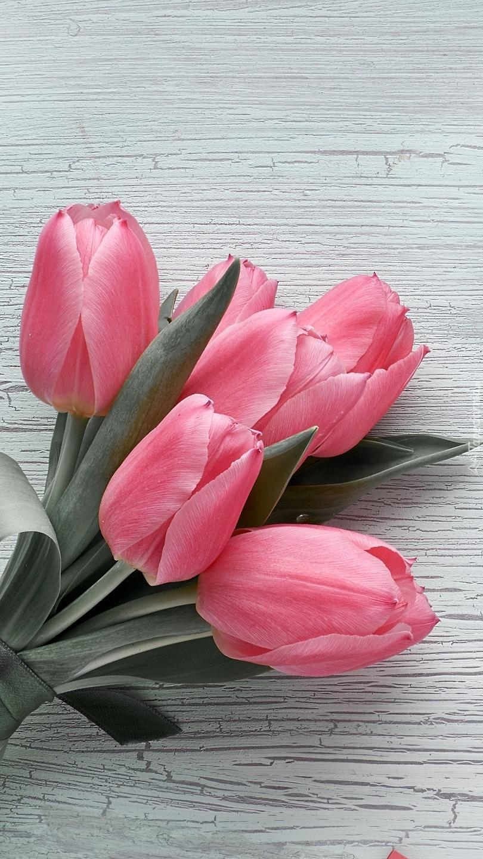 Wiązanka różowych tulipanów