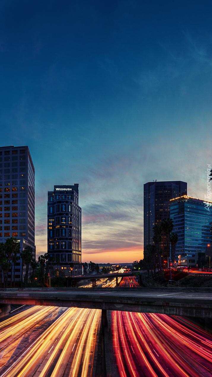 Widok na drapacze chmur w Los Angeles