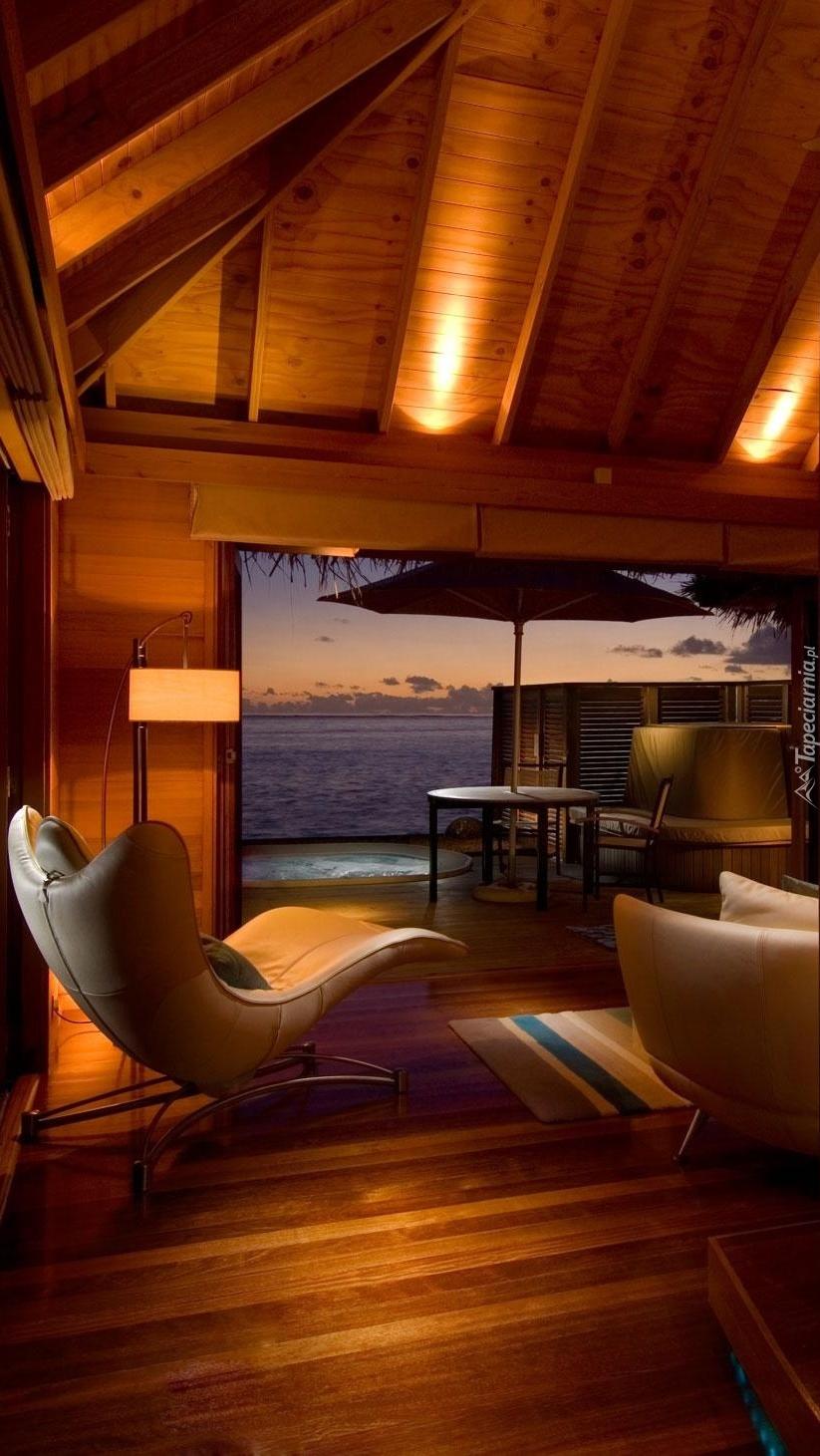 Widok z okna na morze