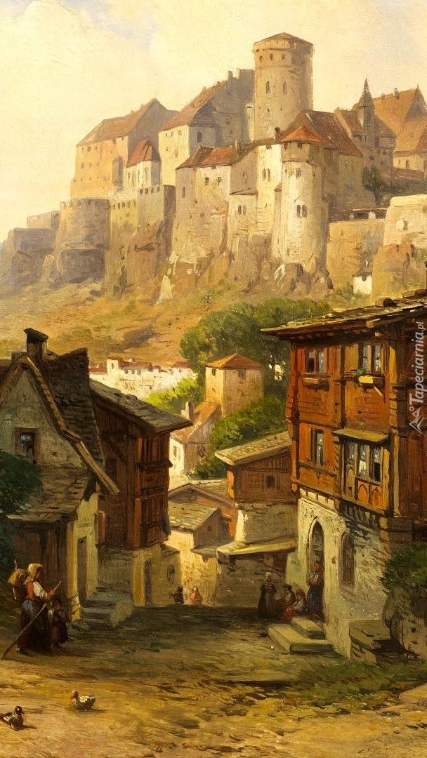 Wieś na obraz malarza Alberta Emila Kirchner