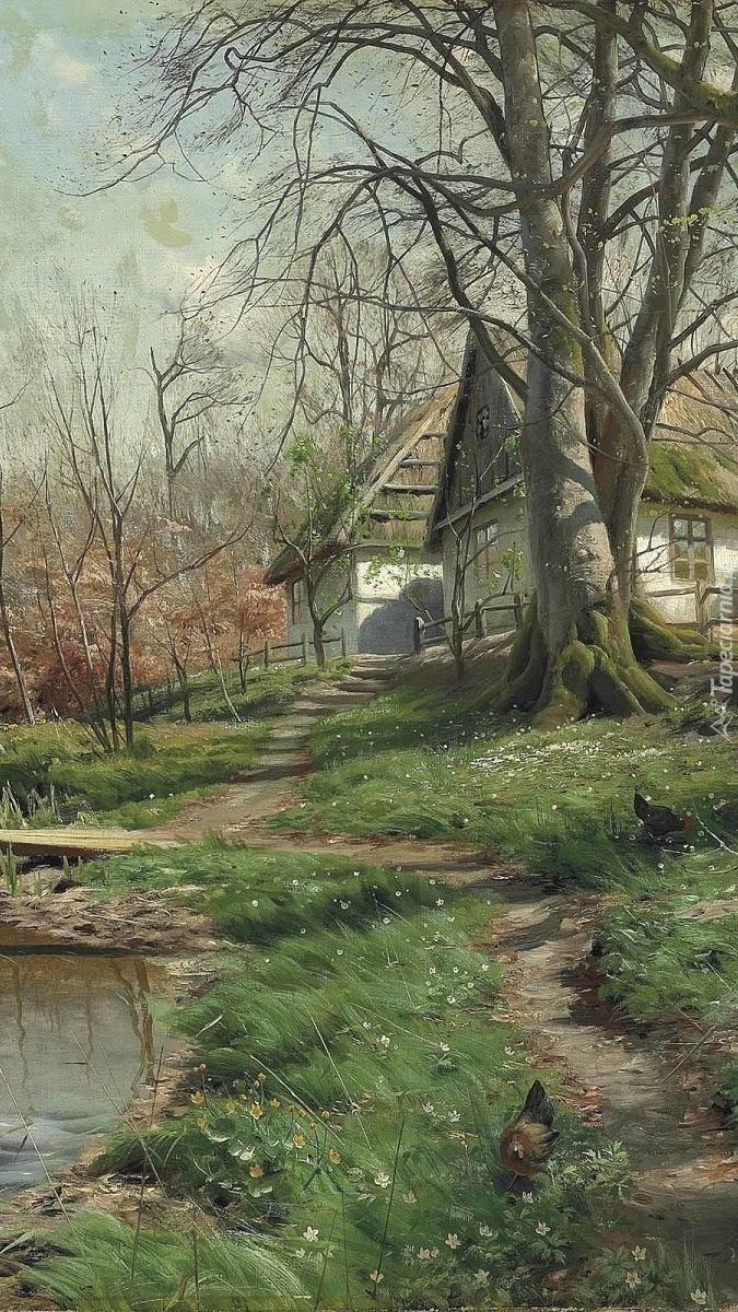 Wieś w malarstwie Pedera Monsteda