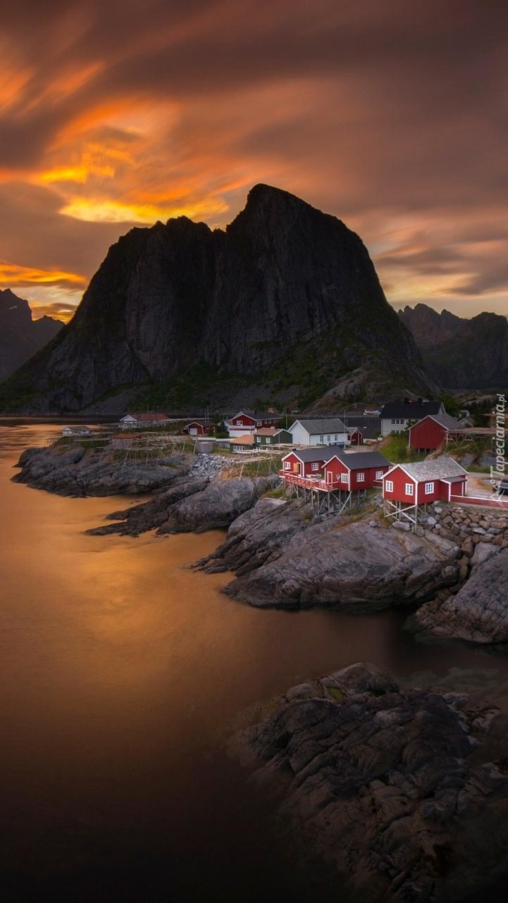 Wioska w Norwegii