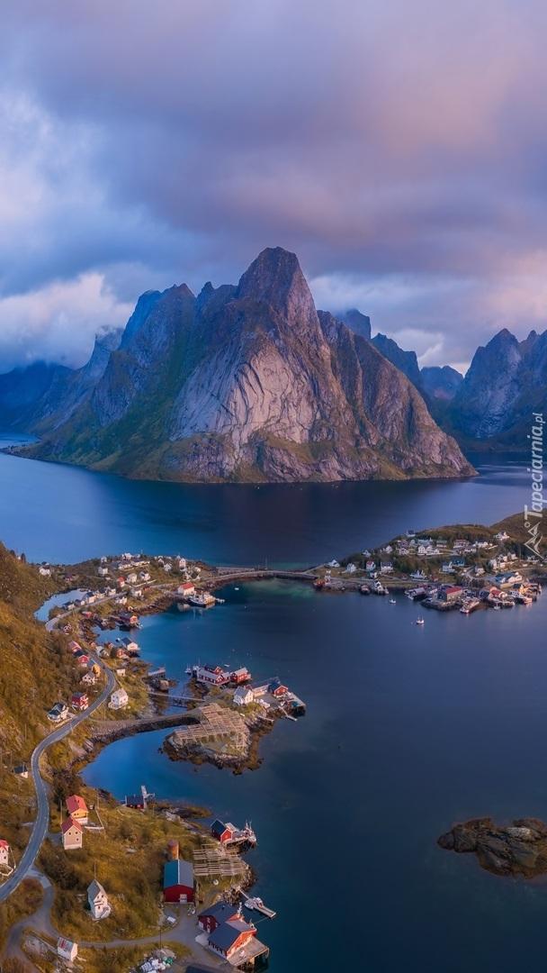 Wioski na wyspach w Norwegii