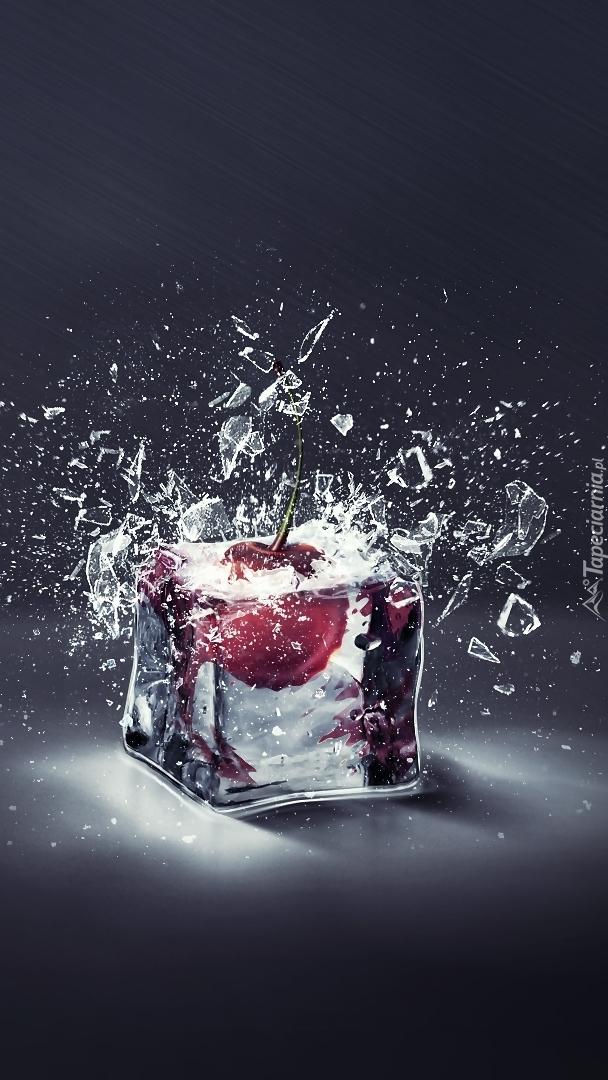 Wisienka w kostce lodu