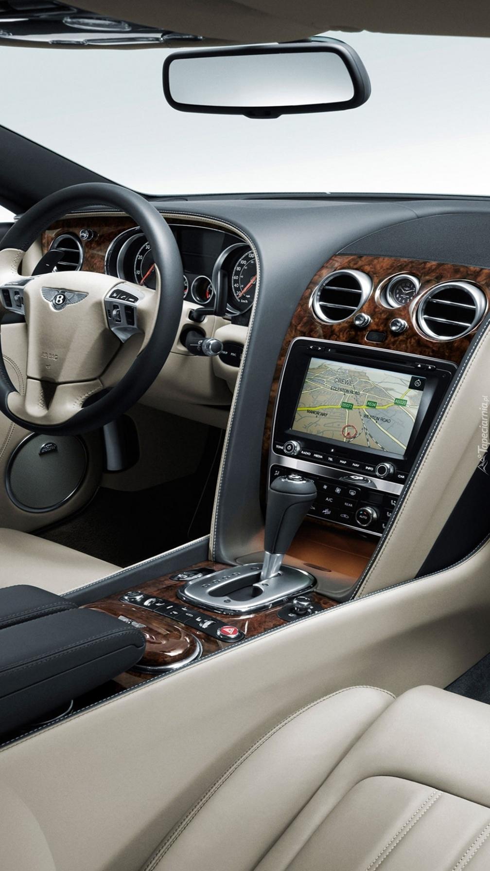 Wnętrze  Bentleya Continental GT