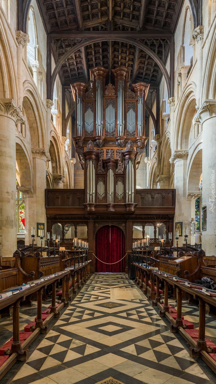 Wnętrze Katedry Chrystusa w Oxfordzie