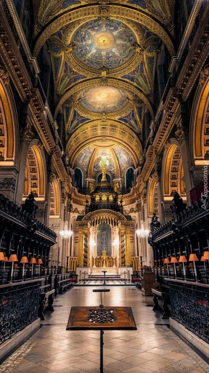 Wnętrze katedry św.Pawła w Londynie