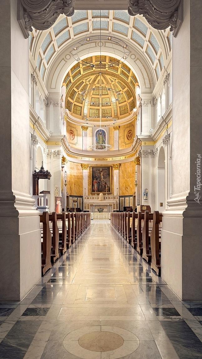 Wnętrze kościoła św.Patryka w Londynie