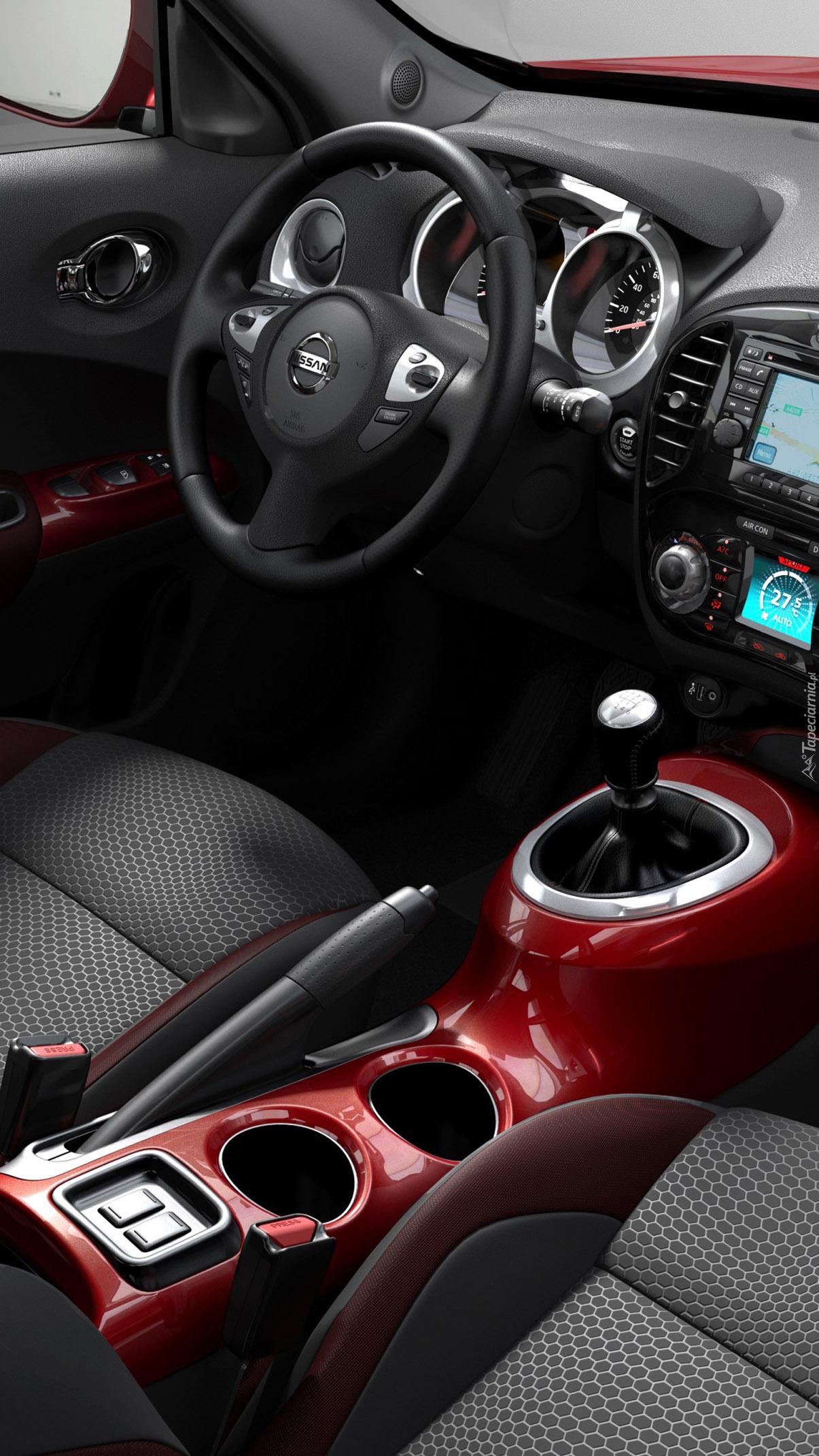 Wnętrze samochodu Nissan Juke