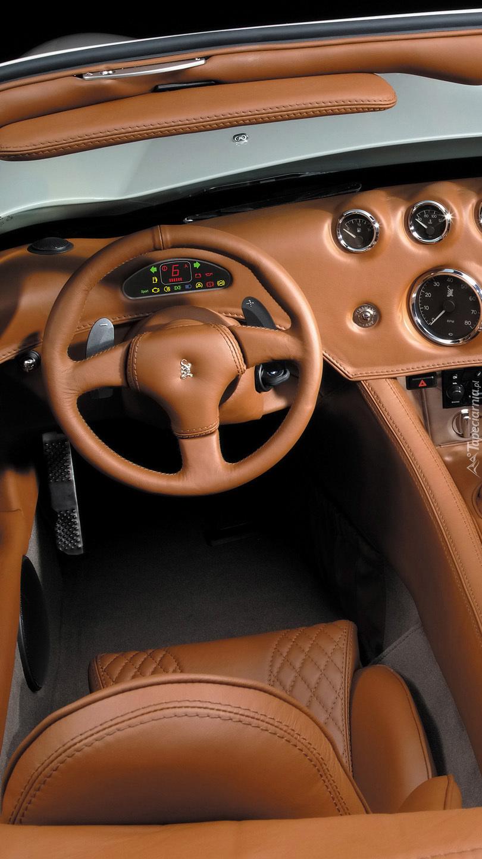 Wnętrze sportowego samochodu  Wiesmann MF3