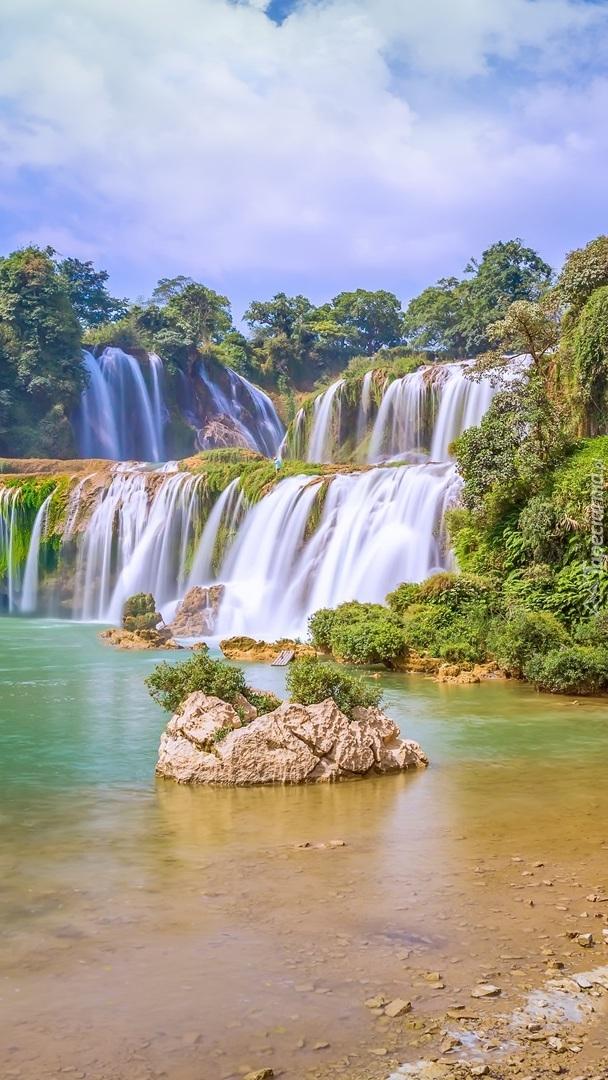 Wodospad Ban Gioc Waterfall