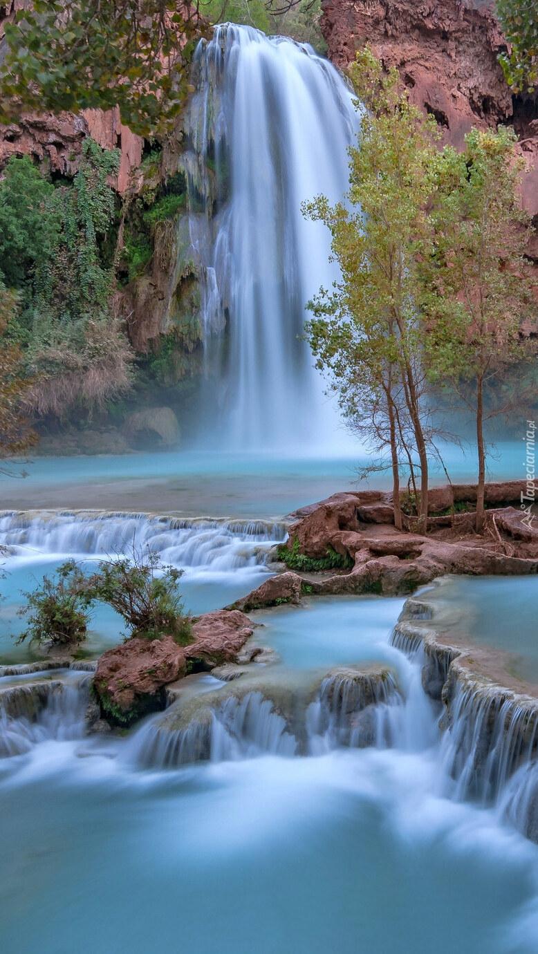 Wodospad Havasu Falls w Arizonie