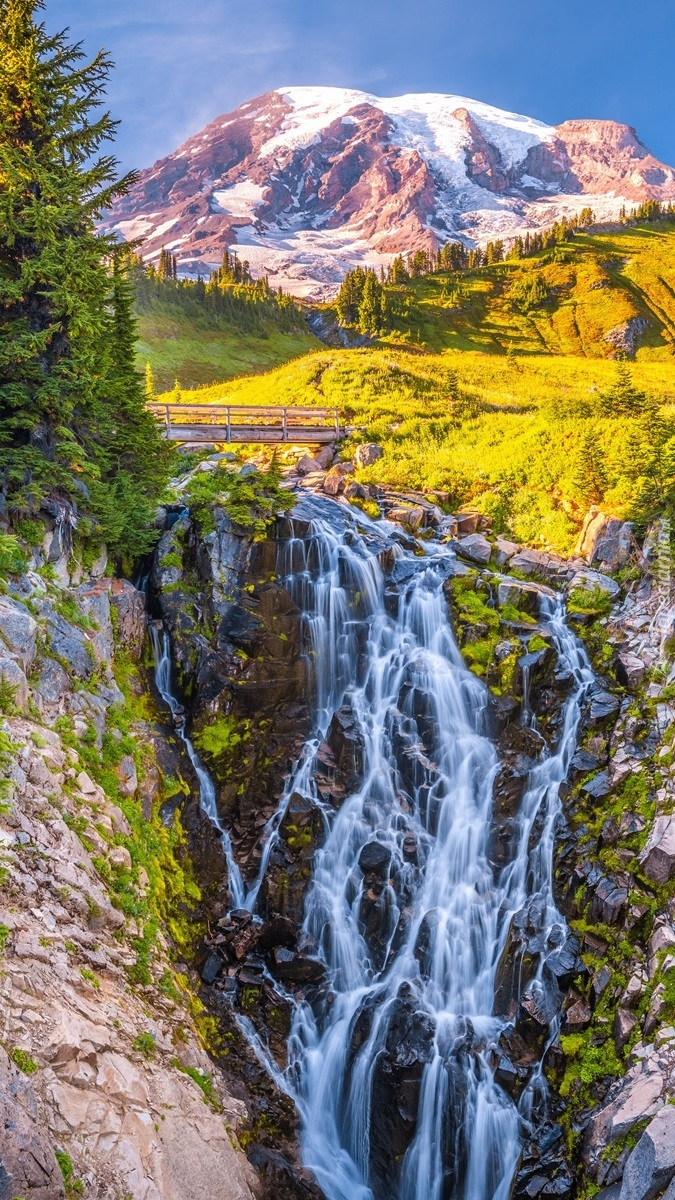 Wodospad Myrtle Falls