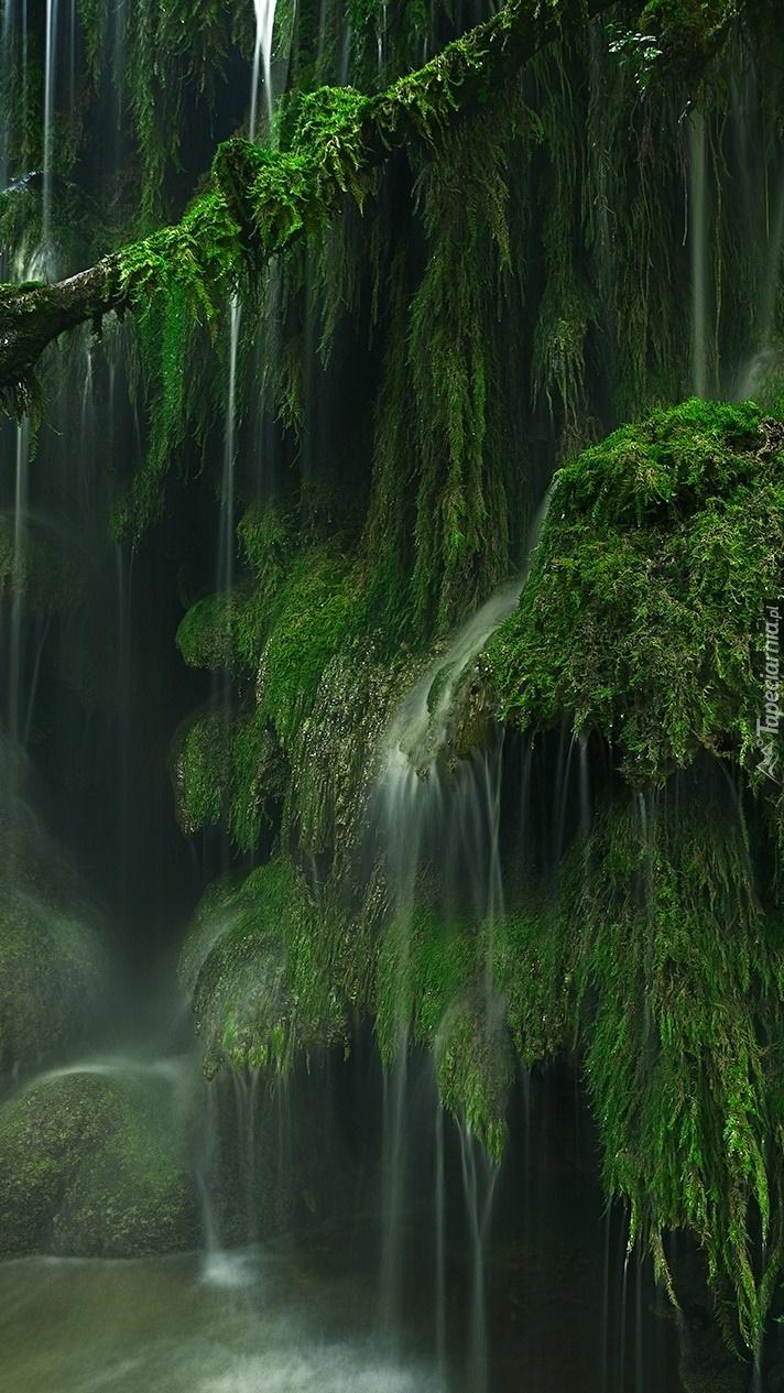 Wodospad na skałach