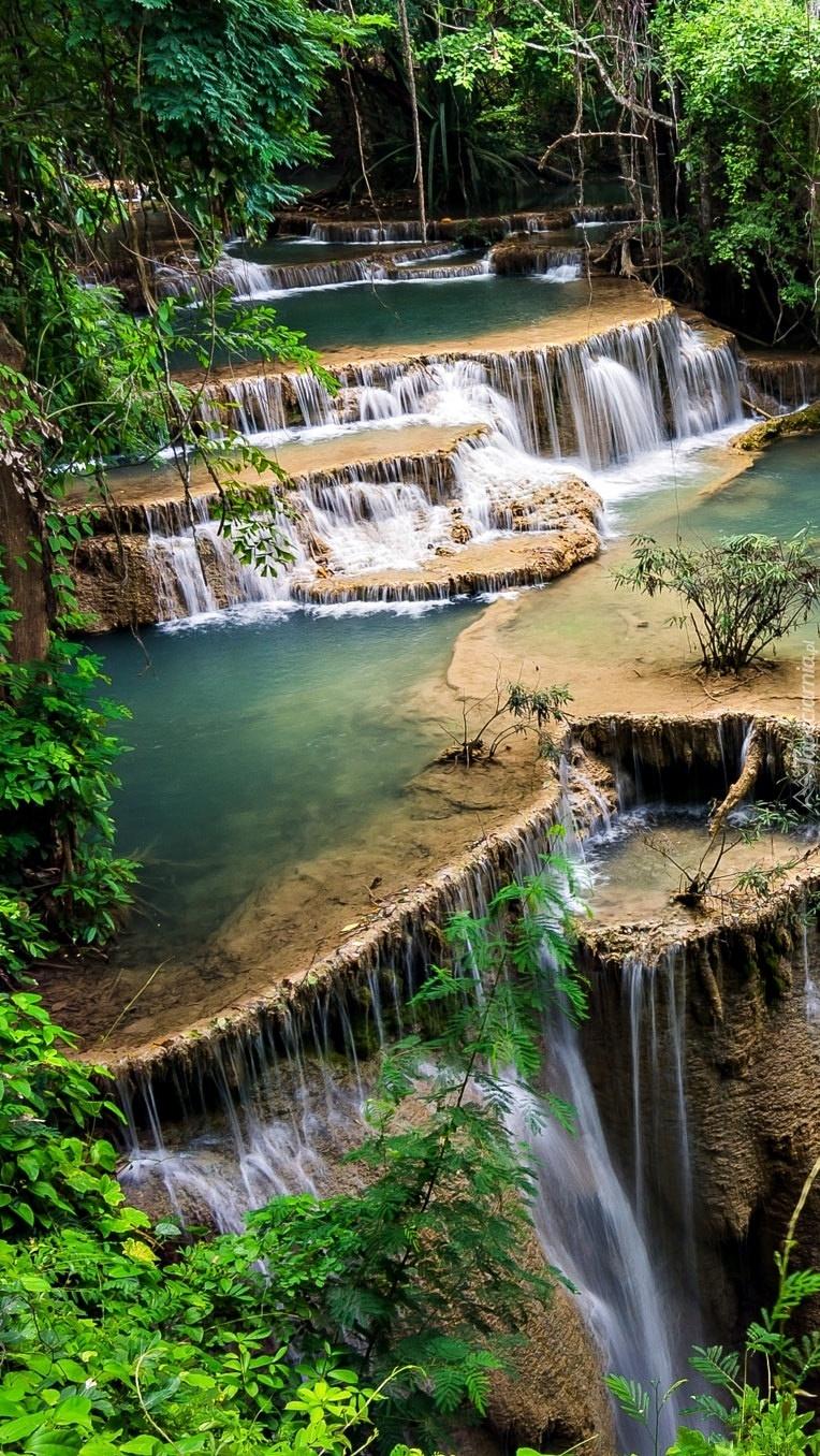 Wodospad w Parku Narodowym Erawan