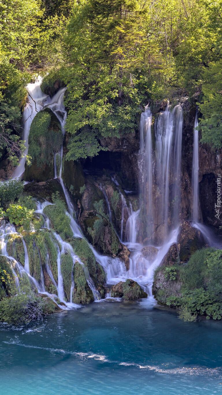 Wodospad w Parku Narodowym Jezior Plitwickich