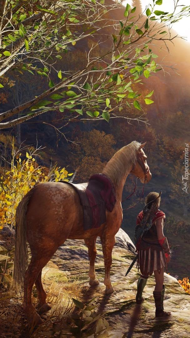 Wojownik przy koniu