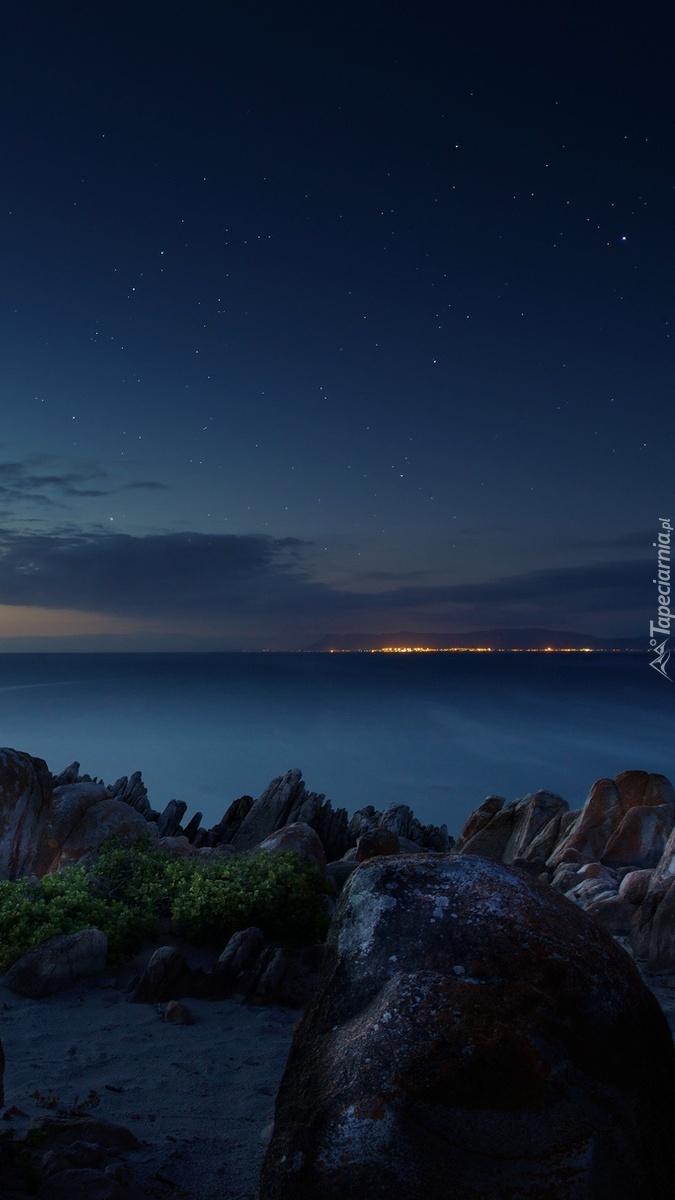 Wschód słońca na plaży w Rapublice Południowej Afryki